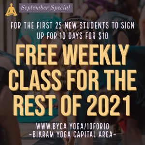 new student special first 25 students get a free weekly class card