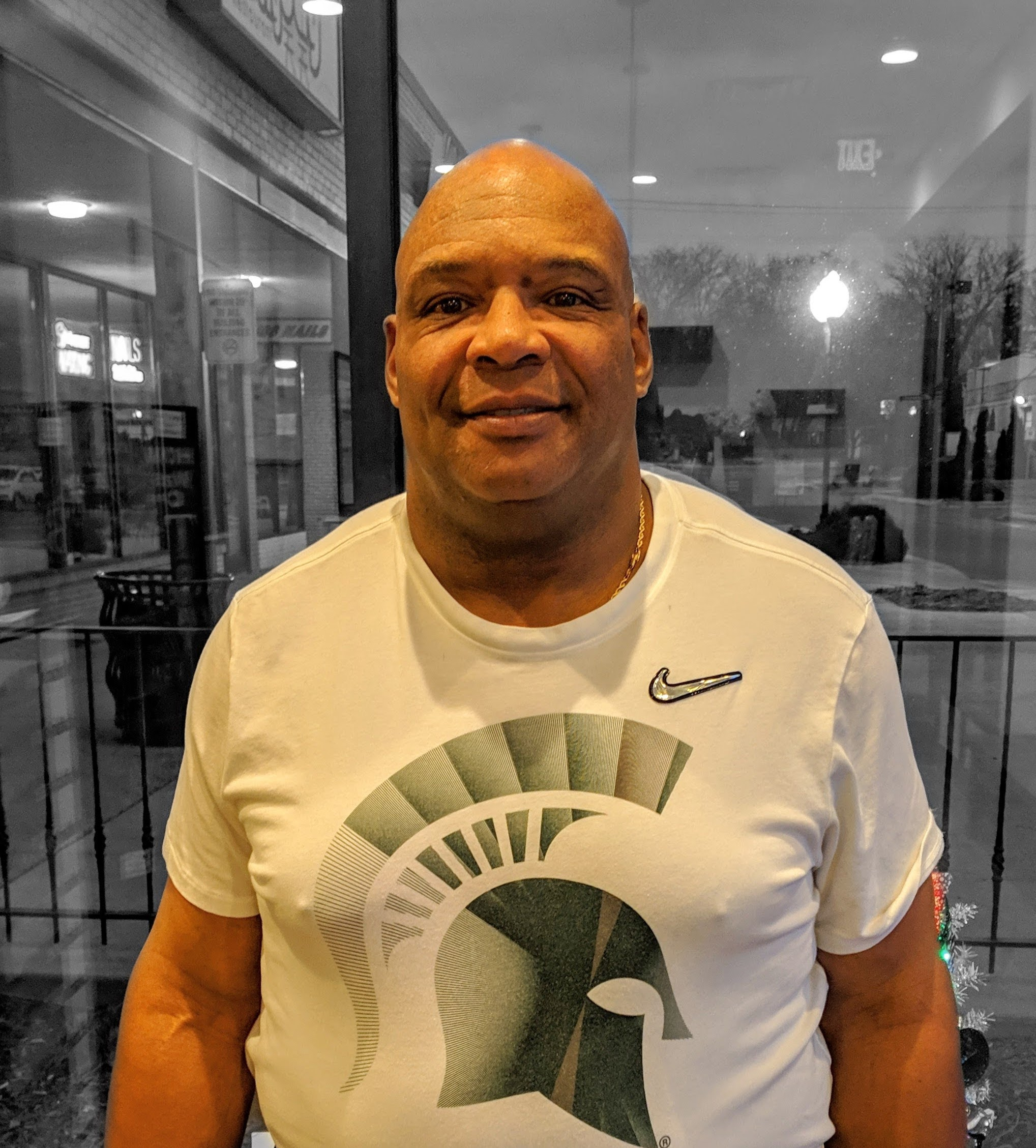 bikram yoga student spartans football coach ron burton Michigan state university