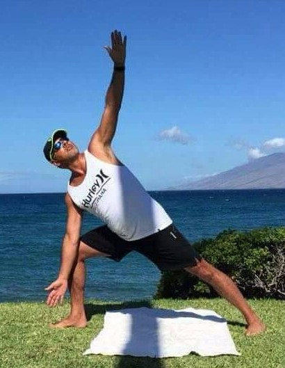 men yoga hawaii triangle bikram