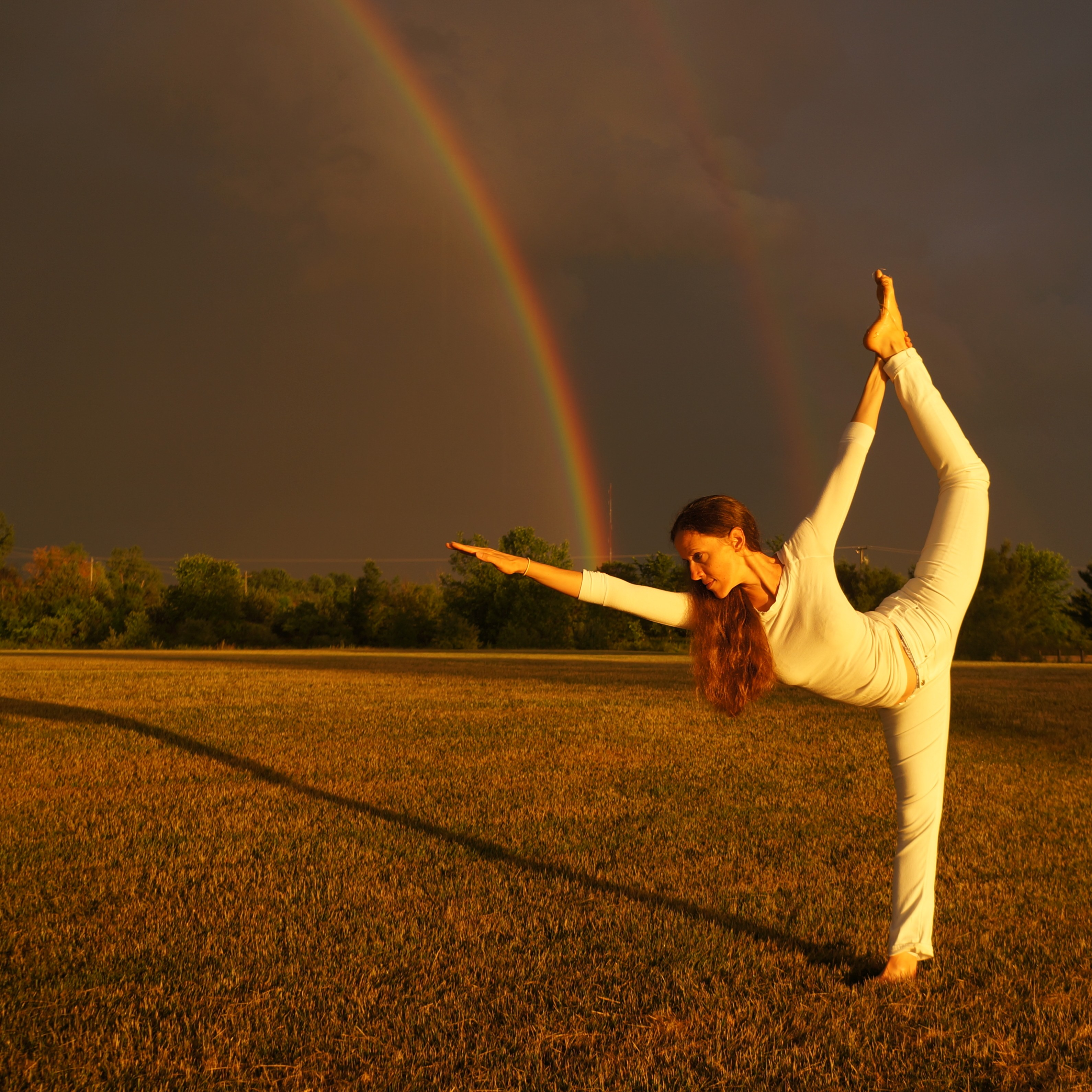intermediate standing bow pulling standing rainbow pulling