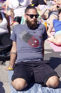 dude in fixed firm yoga on the river 2016