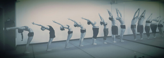 BYCA students backward bending their spines at a posture workshop